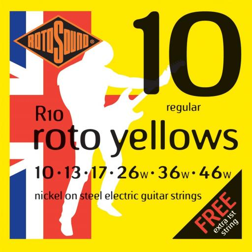 Rotosound Roto Yellows Nickel Guitar Strings 10-46
