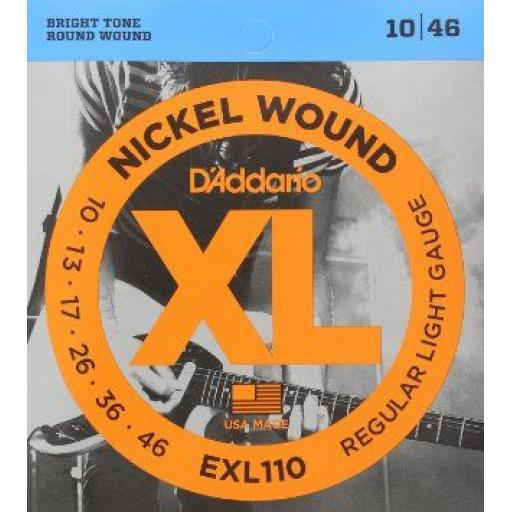 D'Addario EXL110 Nickel Guitar Strings 10-46