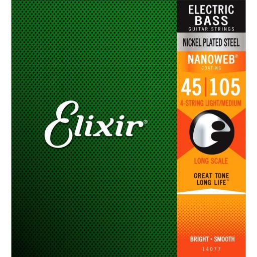 Elixir Light/Medium 45-105 w/ Nanoweb Coating