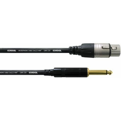 Cordial CCM 5 FP 5m Jack / XLR Audio Cable
