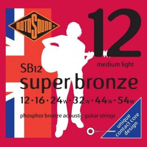 Rotosound Medium Light Super Bronze SB12 12-54