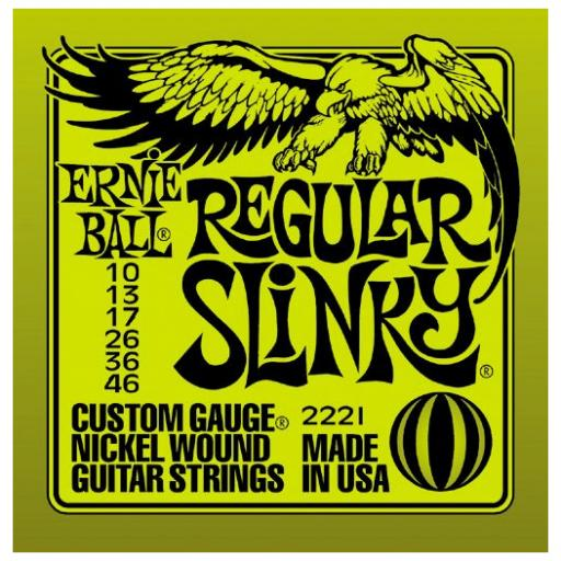 Ernie Ball Regular Slinky Nickel Guitar Strings 10-46