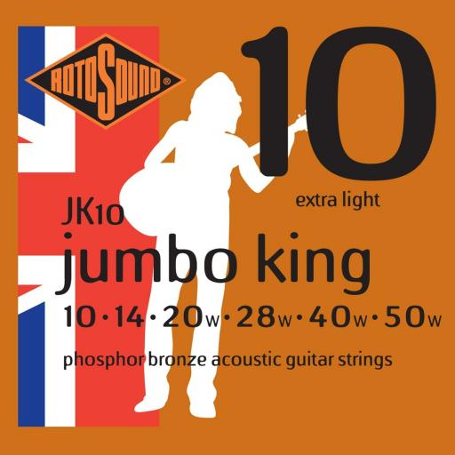 Rotosound Bronze Extra Light JK10 10-50