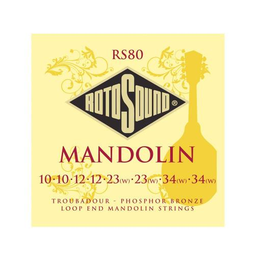 Rotosound Bronze Mandolin Strings RS80 10-34