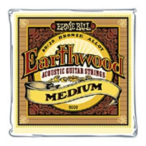 Earthwood Medium 80/20 Acoustic Guitar Strings 13-56