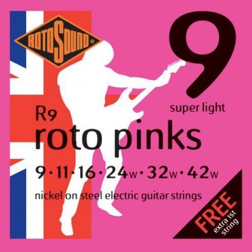 Rotosound Roto Pinks Super Light R9 9-42