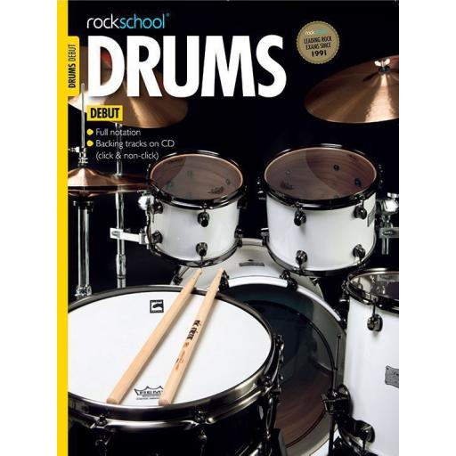 Rockschool Drums Debut with Notation & CD