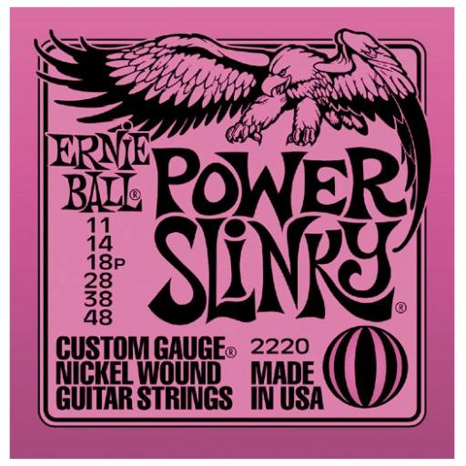 Ernie Ball Power Slinky Nickel Guitar Strings 11-48
