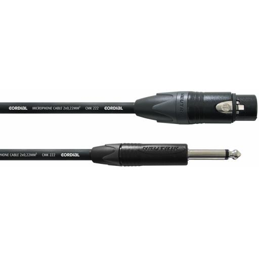 Cordial CPM 5 FP 5m Jack / XLR Audio Cable