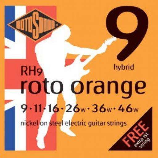 Rotosound Roto Orange Hybrid Gauge RH9 9-46