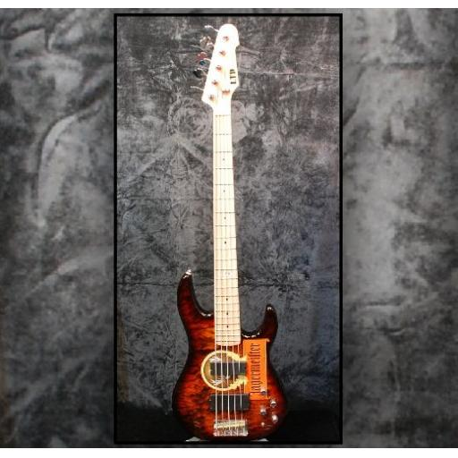 Pre-Owned LTD Surveyor-405 5-String with Jagermeister Decal