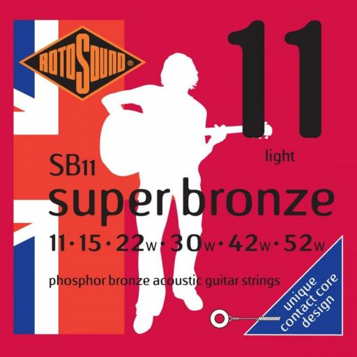 Rotosound Super Bronze Light SB11 11-52