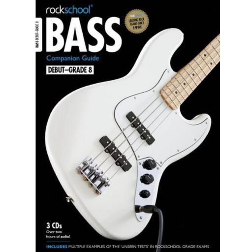 Rockschool Bass Companion Guide Grades 1 - 8 w/ 3 x CD