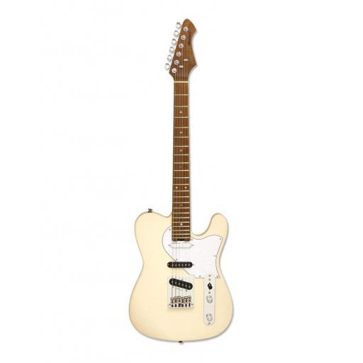 Aria 615 MK II Nashville Guitar in Marble White